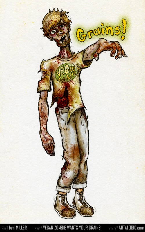 Vegan Zombie Wants Your Grains